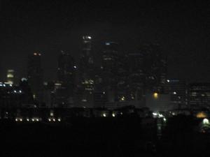 Blurry LA Skyline